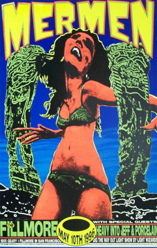 Psychic Sparkplug Mermen Poster