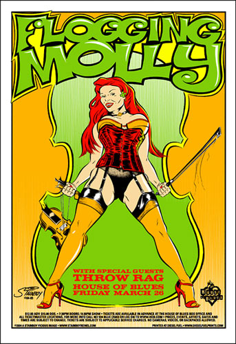 Stainboy Flogging Molly Poster