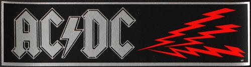 Vintage AC/DC Bumper  Sticker