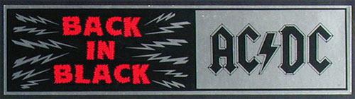 AC/DC Vintage Bumper Sticker