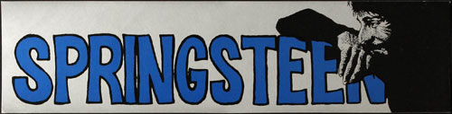 Vintage Bruce Springsteen Bumper Sticker