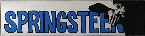 Vintage Bruce Springsteen Bumper Sticker