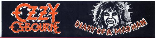 Ozzy Osbourne Vintage Bumper Sticker