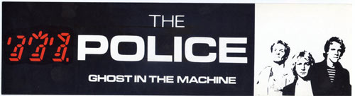 The Police Ghost In The Machine Vintage Bumper Sticker