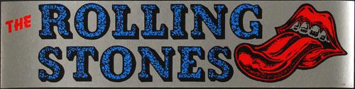 Vintage Rolling Stones Bumper Sticker