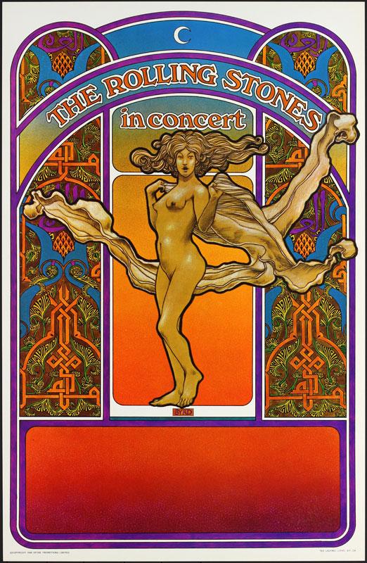 David Byrd Rolling Stones 1969 Tour Poster