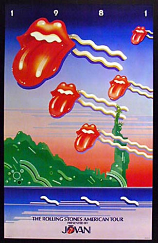 rolling stones 1981 american tour poster. Black Bedroom Furniture Sets. Home Design Ideas