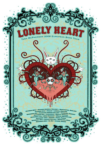Tara McPherson Lonely Heart - Tara McPherson Book Tour Poster