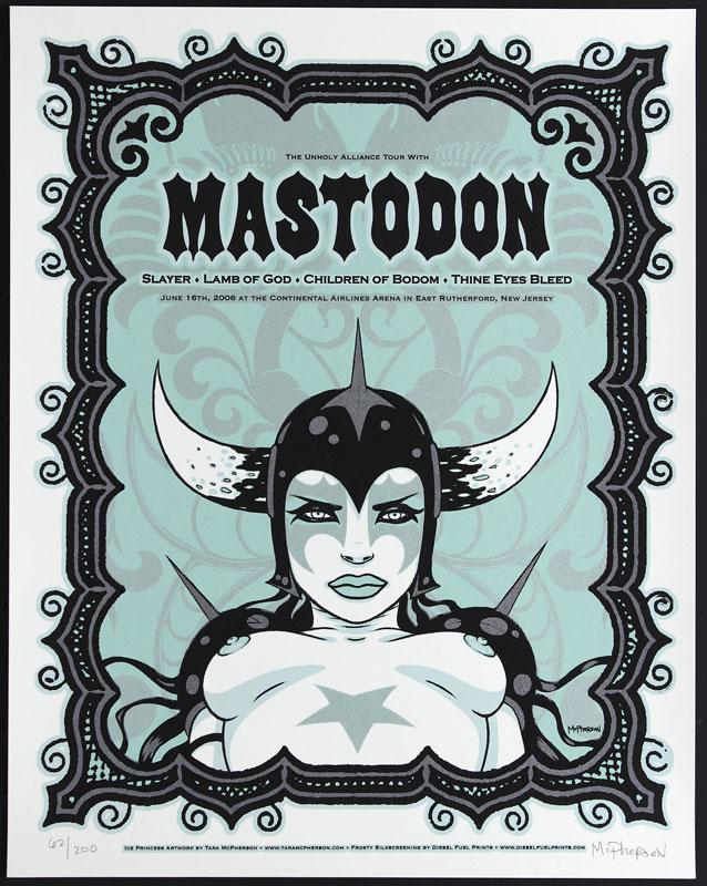 Tara McPherson Mastodon Poster