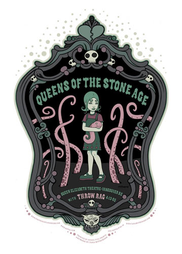 Tara McPherson Queens of the Stone Age Poster