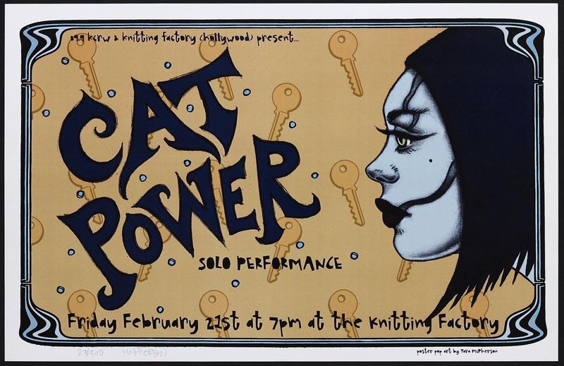 Tara McPherson Cat Power Poster