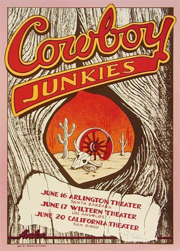 Randy Tuten Cowboy Junkies Poster - signed