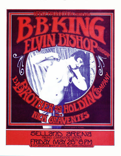 Randy Tuten Direct Productions Presents B.B. King Handbill