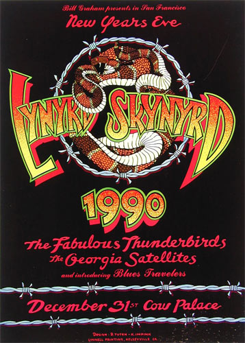 Randy Tuten Lynyrd Skynyrd New Years Eve 1990 Poster - signed