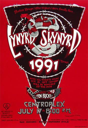 Randy Tuten Lynyrd Skynyrd Baton Rouge Poster