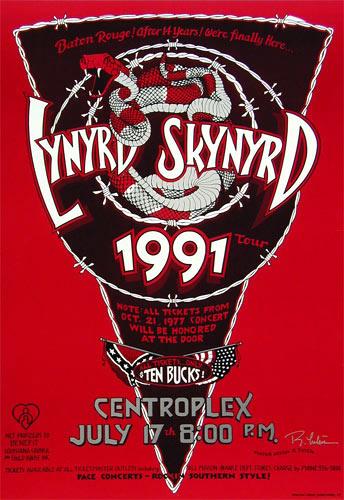 Randy Tuten Lynyrd Skynyrd Baton Rouge Poster - signed