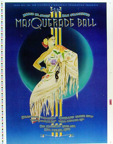 Randy Tuten Margo St. James Masquerade Ball Poster Uncut Proofsheet