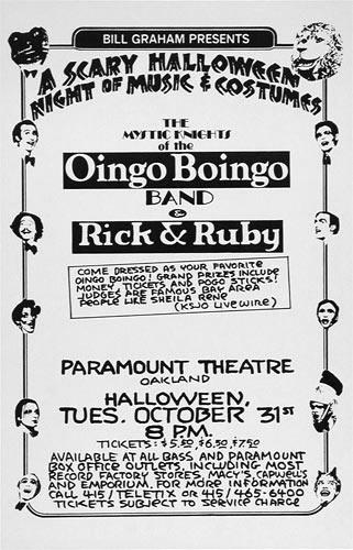 Randy Tuten Oingo Boingo Poster