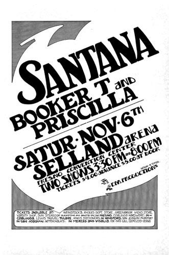 Randy Tuten Santana Poster - signed