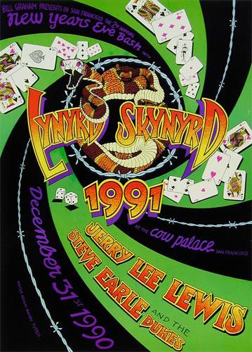 Randy Tuten Lynyrd Skynyrd New Years Eve 1991 Poster