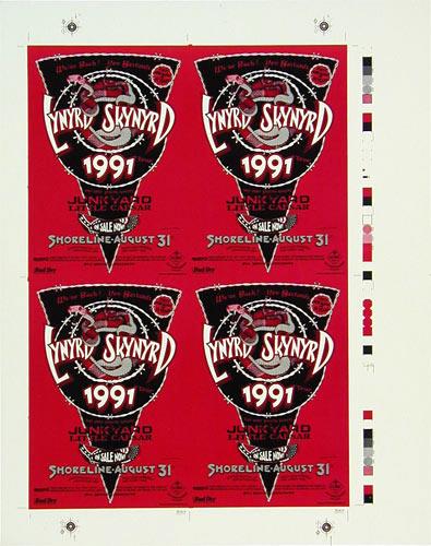 Randy Tuten Lynyrd Skynyrd Handbill Uncut Sheet