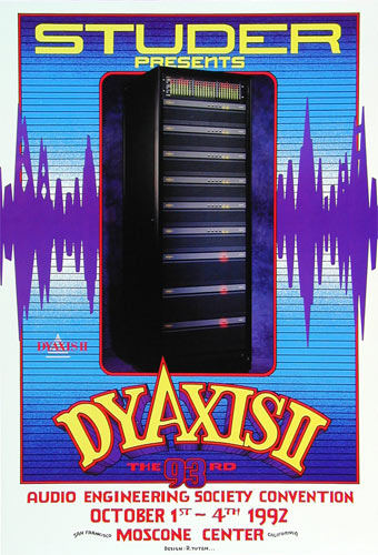 Randy Tuten DyAxis II Audio Engineering Society Convention Poster