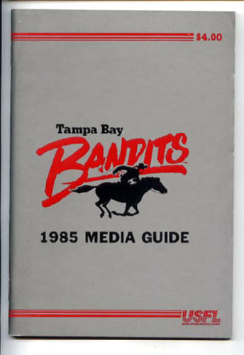 1985 Tampa Bay Bandits Media Guide
