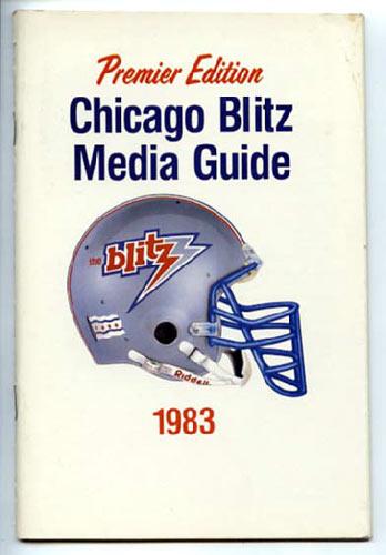1983 Chicago Blitz Media Guide
