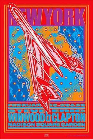 John Van Hamersveld Eric Clapton Signed Proofsheet