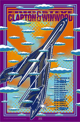 John Van Hamersveld Eric Clapton Poster