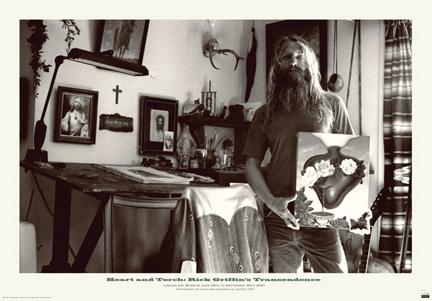 John Van Hamersveld Rick Griffin Heart and Torch Exhibition Poster - signed