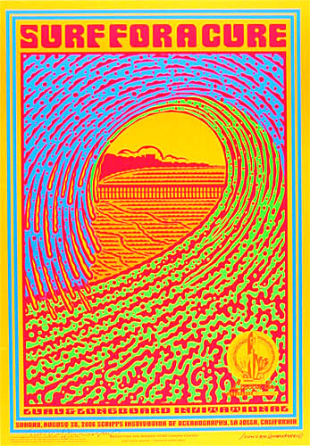 john van hamersveld surf for a cure poster surf for a cure scripps