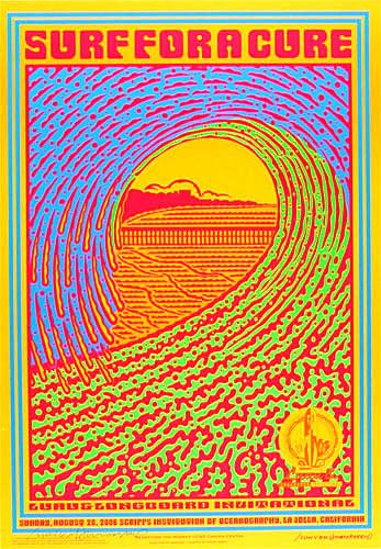 John Van Hamersveld Surf For A Cure Poster