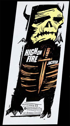 Jay Vollmar High On Fire Poster
