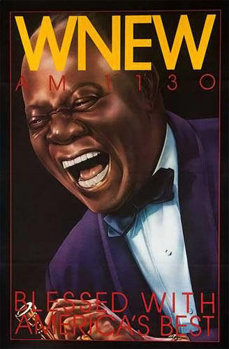 WNEW Louis Armstrong New York Subway Poster