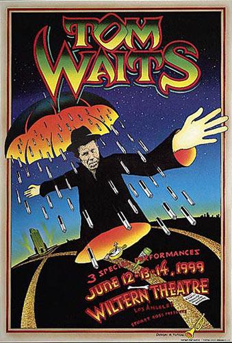 Randy Tuten Tom Waits L.A  Poster
