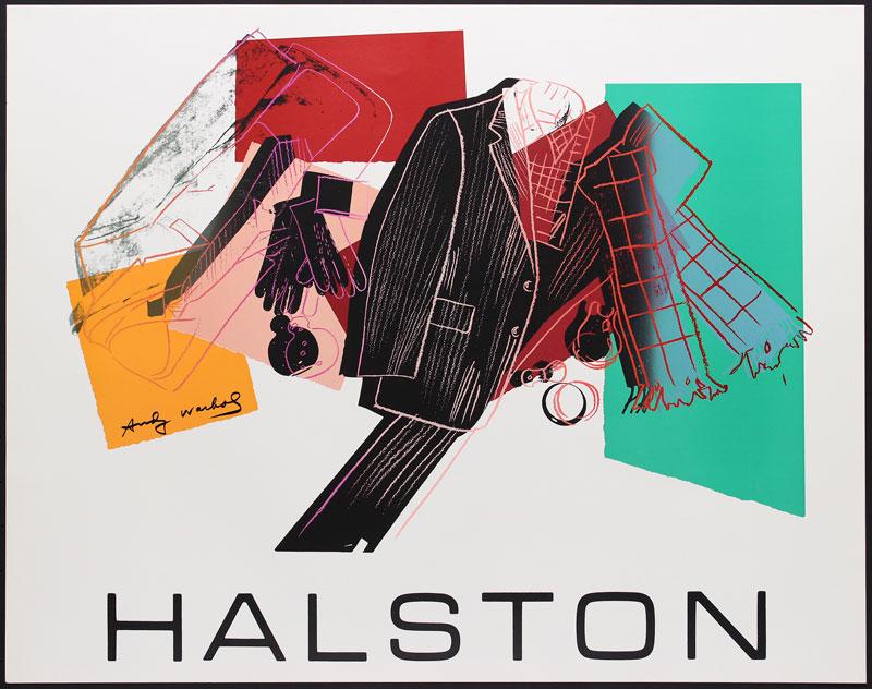 Andy Warhol Halston #1 - Men's Wear Serigraph