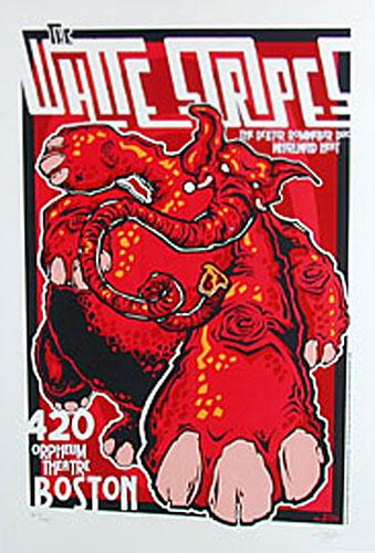 James Decker and Jeff Wood  Drowning Creek White Stripes Orpheum Theatre Silkscreen Poster