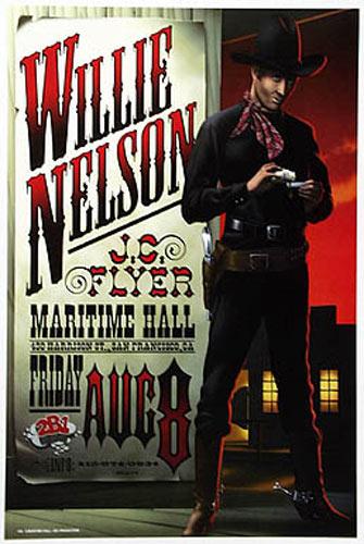 Jim Phillips Willie Nelson Concert  Poster