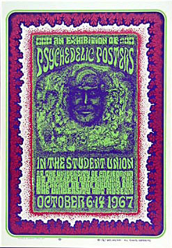 Wes Wilson 1967 Psychedelic Poster Exhibition Poster