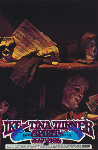 Randy Tuten Ike & Tina Turner Spirit Winterland Handbill
