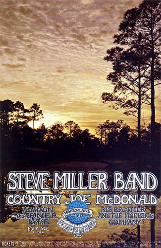Randy Tuten Steve Miller, Big Brother Winterland Handbill
