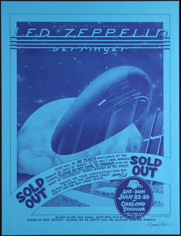 Randy Tuten Led Zeppelin Poster - signed