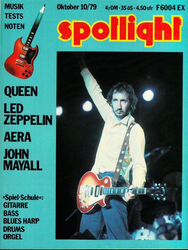 Spotlight 10/1979 - Queen and Led Zeppelin Music Magazine