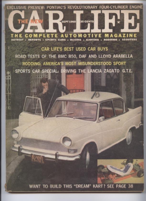 Car Life Magazine September 1960 VTG Indy 500 Auto Theft Go Kart ...