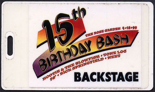 The Rose Garden 15th Birthday Bash featuring Hootie and the Blowfish Laminate