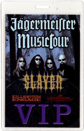 Slayer Jagermeister Tour 2004 Laminate