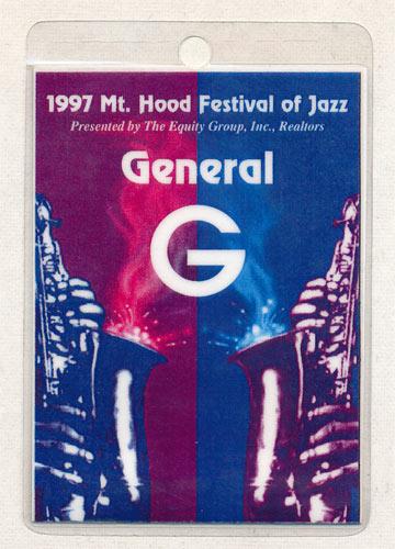 Mt. Hood Festival of Jazz 1997 General G Laminate