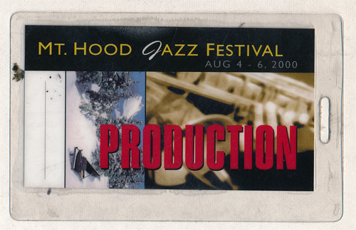 Mt. Hood Jazz Festival 2000 Production Laminate