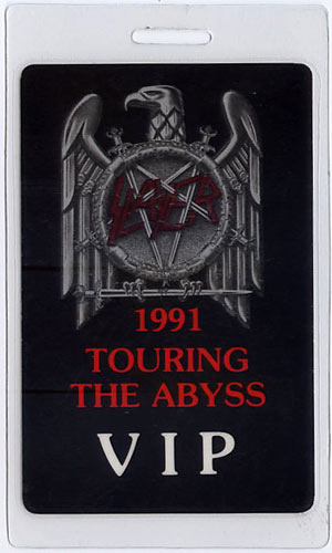 Slayer 1991 Seasons in the Abyss Tour Laminate